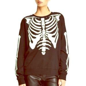 H&M Divided Skeleton Glow In The Dark Sweatshirt